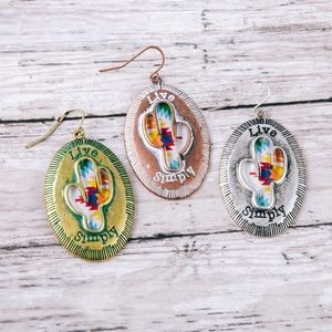 Jewelry - NWT Live Simply Cactus Drop Earrings
